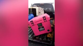NRA supporter blows up his Yeti cooler