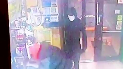 Masked men killed convenience store clerk in shootout. Her son wants to find 'scumbags'