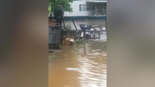Firefighters rescue family from their flooded home in Greenville, SC