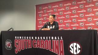 Dawn Staley describes how Bianca Cuevas-Moore came back to South Carolina