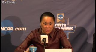 Dawn Staley apologizes for missing national anthem