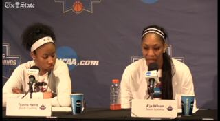 A'ja Wilson reminisces about her last game at Colonial Life Arena
