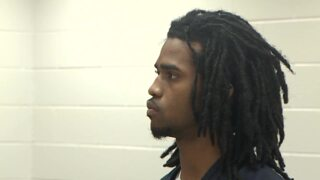 Arthur Jones Jr., 22, of Hopkins appears in Columbia bond court for the shooting in Columbia's Five Points