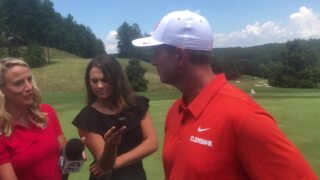 Clemson coach Dabo Swinney previews 2018 season at media golf outing