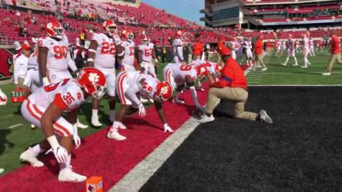 Watch: Clemson Walk of Champions, warm ups for Louisville