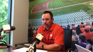 Clemson coach Monte Lee discusses MLB draft