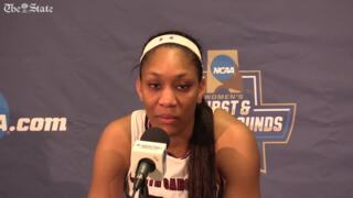A'ja Wilson feels like she disappointed coach Dawn Staley in NCAA first round