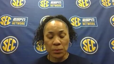Dawn Staley talks surviving Alabama, moving on in SEC tournament play