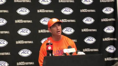 Clemson coach Dabo Swinney on overcoming mistakes in win at Louisville
