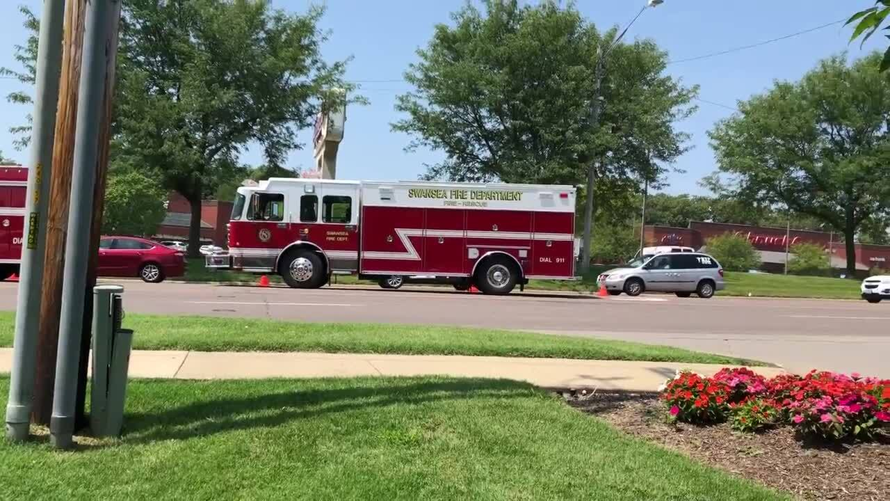 Video: Traffic backed up after car crash in Swansea IL