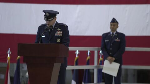 375th AMW Change of Command