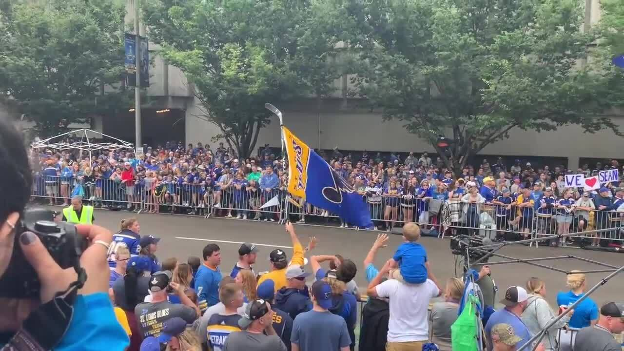 They packed MetroLink and stood in the rain. These fans came to celebrate the Stanley Cup.