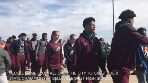 'This city is extremely proud of you': state champions Belleville West welcomed home