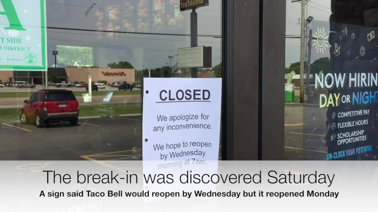 Police search for suspect cutting through roof to steal from 2 Cahokia restaurants