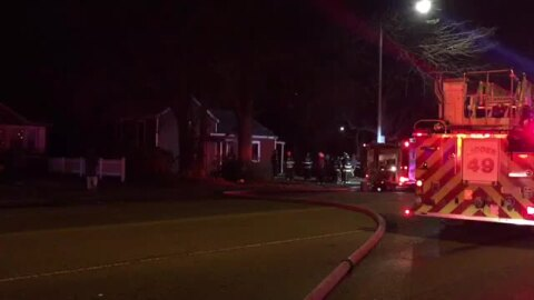 Belleville firefighters rescue woman from burning home