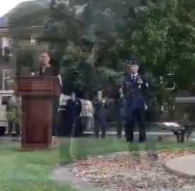 9-11 ceremony at Scott Air Force Base