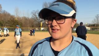 Belleville East's Alyssa Krausz on her improvement at the plate