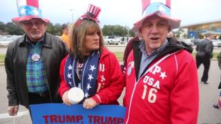 Donald Trump supporters gather for Biloxi rally