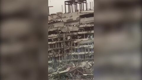 Dangerous search on for 1 missing after hotel collapse