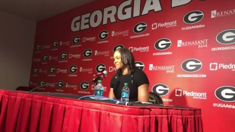 UGA women's basketball head coach highlights key players in first win of the season