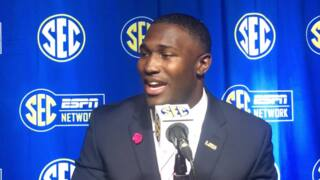 Devin White shares love for horseback riding at SEC Media Days