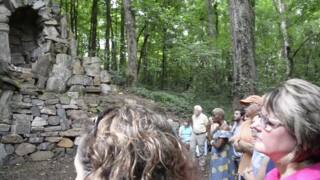 Reichert family hosts first tour of The Grotto