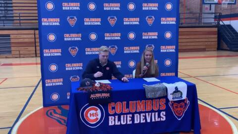 Two Columbus High athletes sign college letters of intent