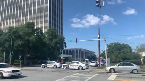 Heavy police presence at downtown Columbus Government Center