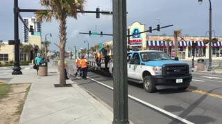Barriers go up on Ocean Boulevard for Bike Fest 2018