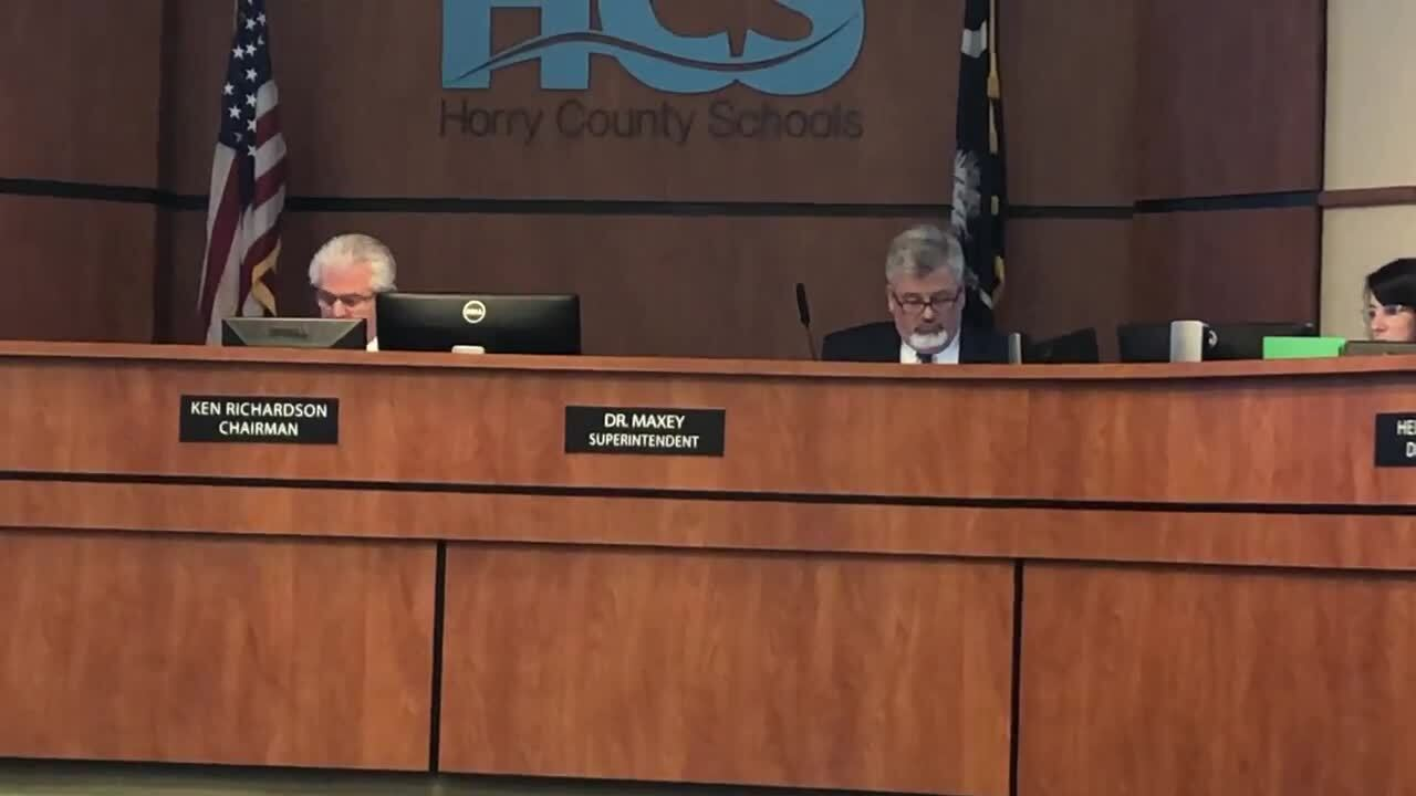 Horry County School board member charged with DUI skips meeting, issues statement