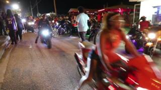 The party continued into morning at Atlantic Beach Bikefest on Friday night
