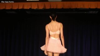 Models strut the runway in Myrtle Beach at Chinese lingerie show