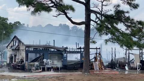 Horry County firefighters fight blaze at NMB Flea Market