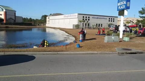 Crews search Horry County pond for missing person
