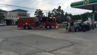 Firefighters respond to car fire at SC 544 gas station