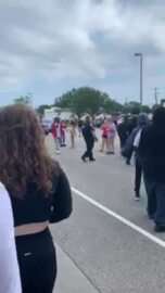 Myrtle Beach protester gets in police officer's face, is apprehended (explicit)