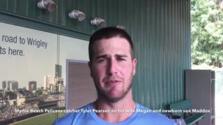 Pelicans catcher Tyler Pearson on baseball and his newborn son
