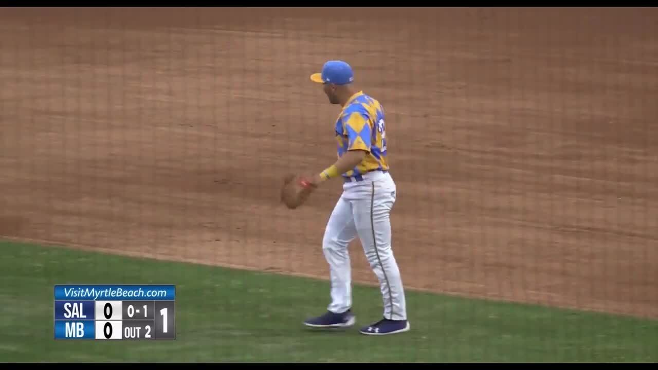 The highlight that landed the Myrtle Beach Pelicans on SportsCenter's Top 10 Plays