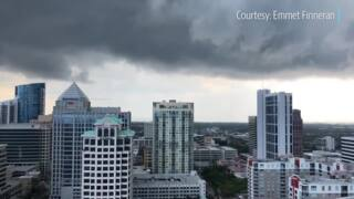 Storm clouds swirl from system that produced tornado in downtown Fort Lauderdale