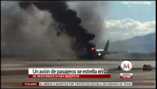 Plane crashes while leaving Havana Airport