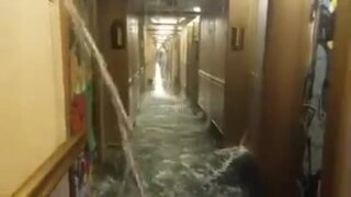 Carnival cruise passenger to Caribbean posts images of deck flood