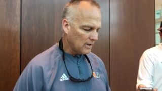 UM coach Mark Richt reads defensive stats from final spring scrimmage of 2018
