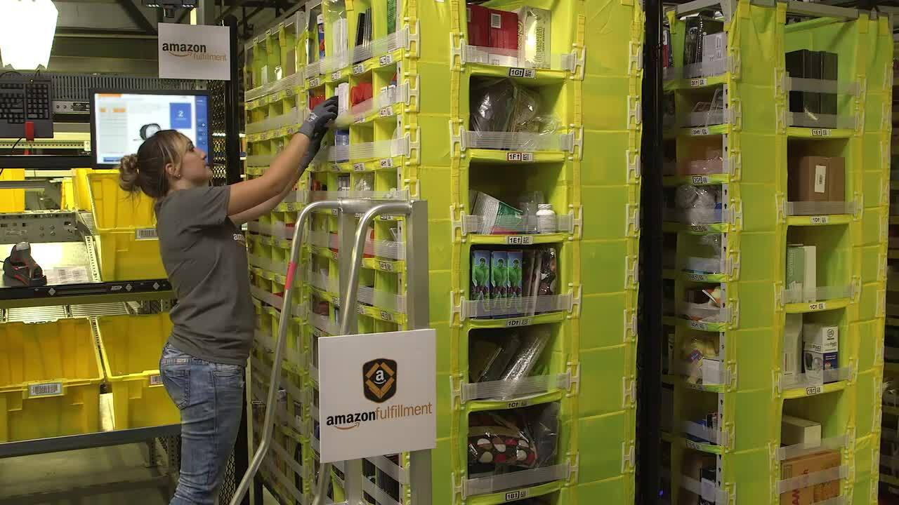 New Amazon facility in Charlotte opens. It'll hire 1,500 people to work with robots