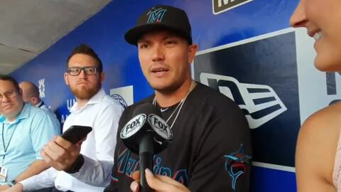 Miguel Rojas on his approach for leading the Marlins in Sunday's game