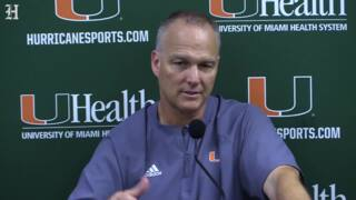 Hurricanes Coach Mark Richt after the Canes's spring game