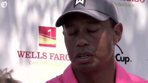 Tiger Woods from the Wells Fargo championship series