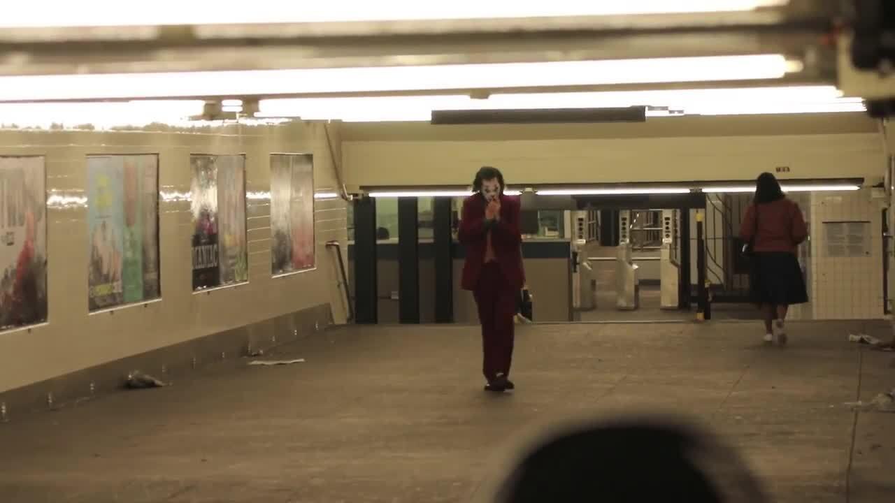 Leaked 'Joker' Scene Sees Joaquin Phoenix Smoking Cigarette In Aftermath Of Mayhem