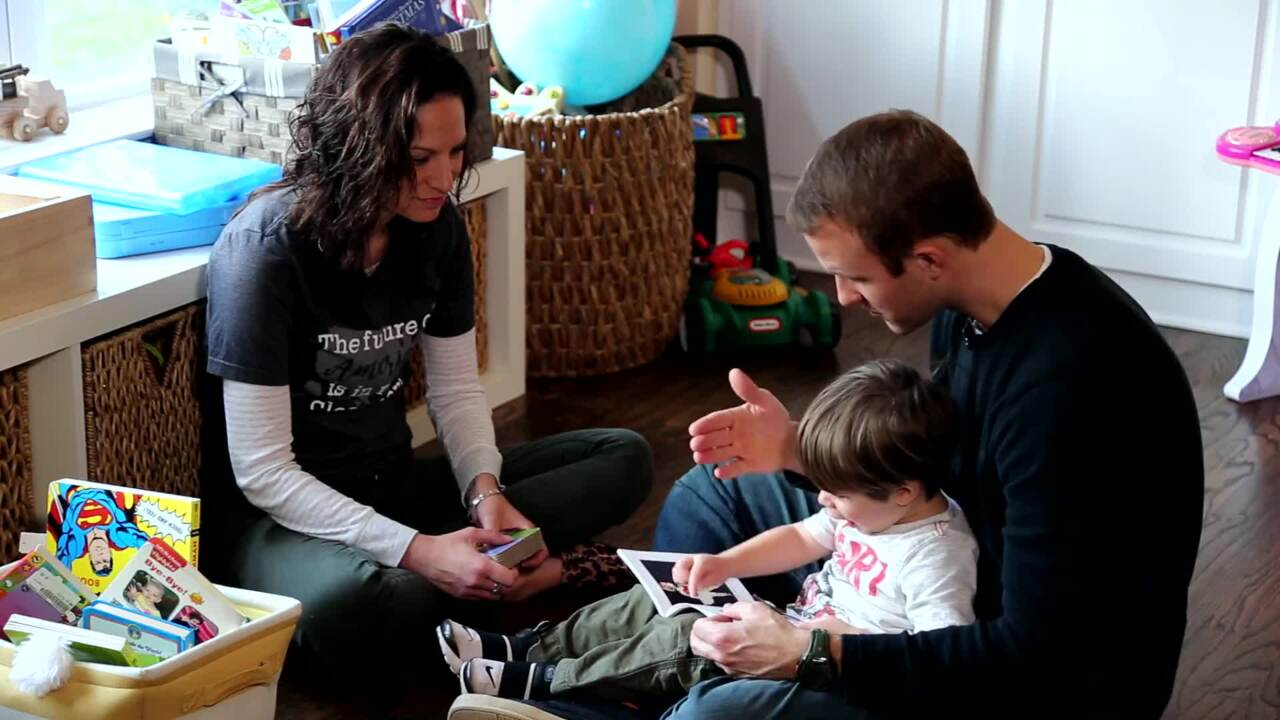 Braydon- Early Intervention Session in Home Setting