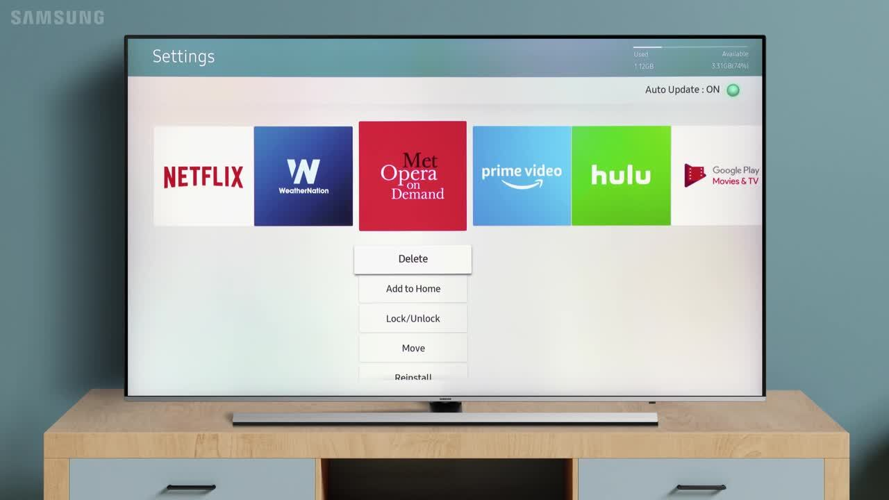 How to uninstall applications from SMART TV? | Samsung Support India
