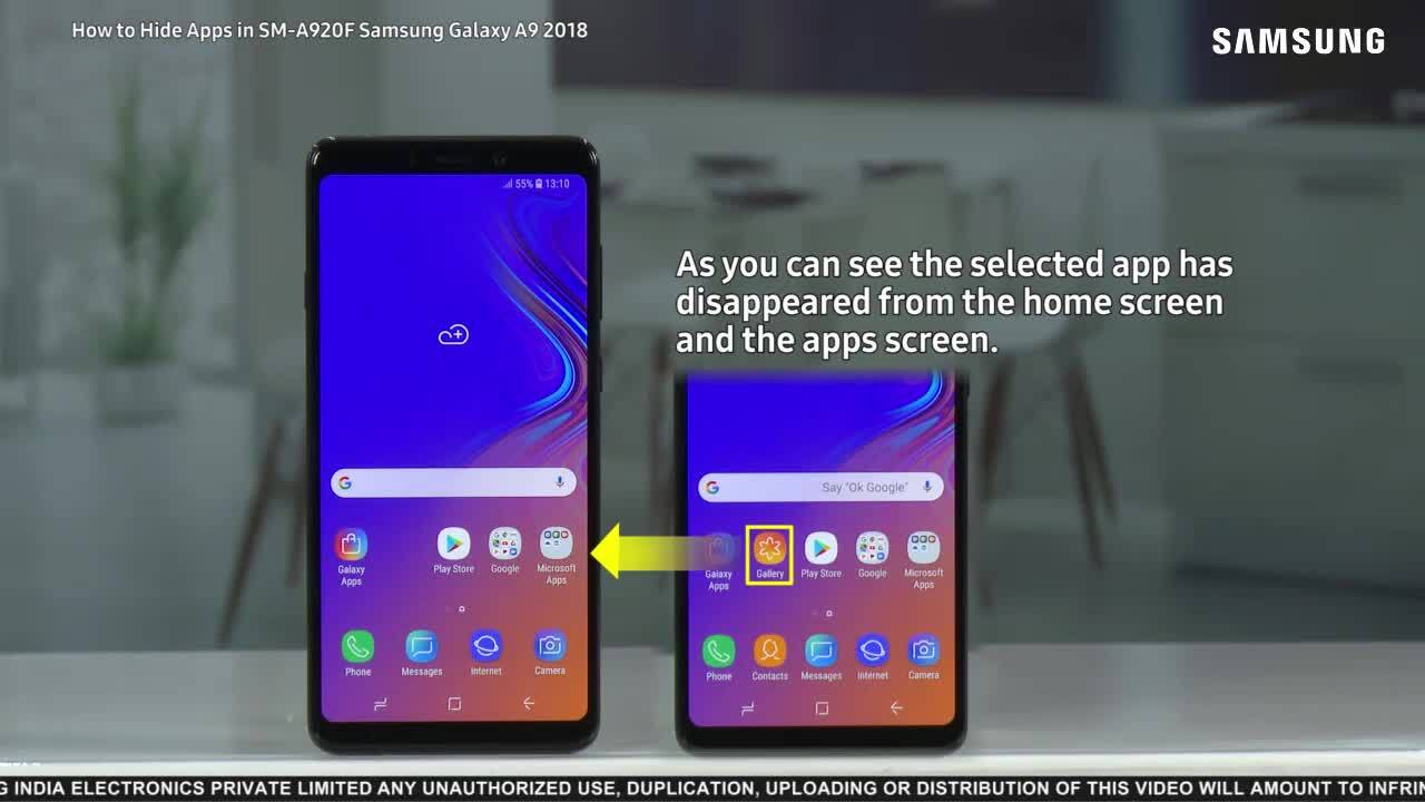 Galaxy A9: How to Hide Apps? | Samsung Support India
